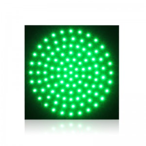 square design 300mm traffic signal light PCB board with green LED