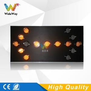 Aluminum yellow flashing LED traffic sign board