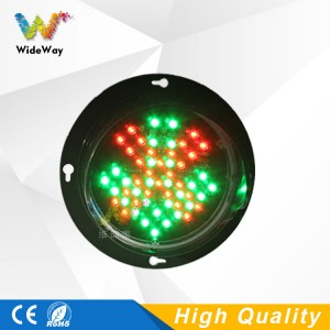 DC12V customized pattern 100mm 4 inch LED lamp mini red cross green arrow traffic light module in philippines