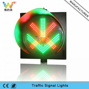 400mm red cross green arrow toll station traffic light