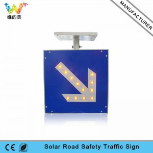 High way road safety aluminum solar traffic sign