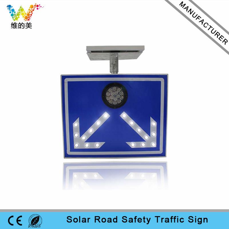 High way Custom Aluminum Reflective solar traffic sign board