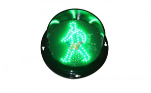 high quality customized 125mm green pedestrian light LED traffic lamp module