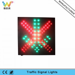 600mm toll station red cross green arrow LED traffic signal light