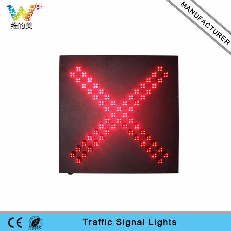 High quality 600mm red cross LED traffic signal light
