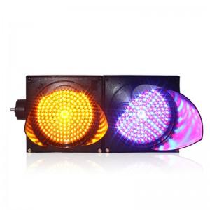200mm unique design yellow purple traffic signal light