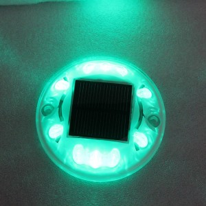 Hot selling garden decoration light solar power road stud deck dock flashing light