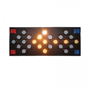 1500*750mm aluminum led arrow board 25pcs yellow LED traffic safety warning light in Malaysia