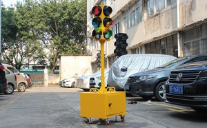 125mm four-sided three aspect mini temporary traffic light