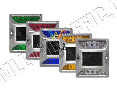 aluminium led solar road stud flashing-1