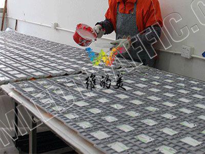 aluminium led solar road stud flashing-3