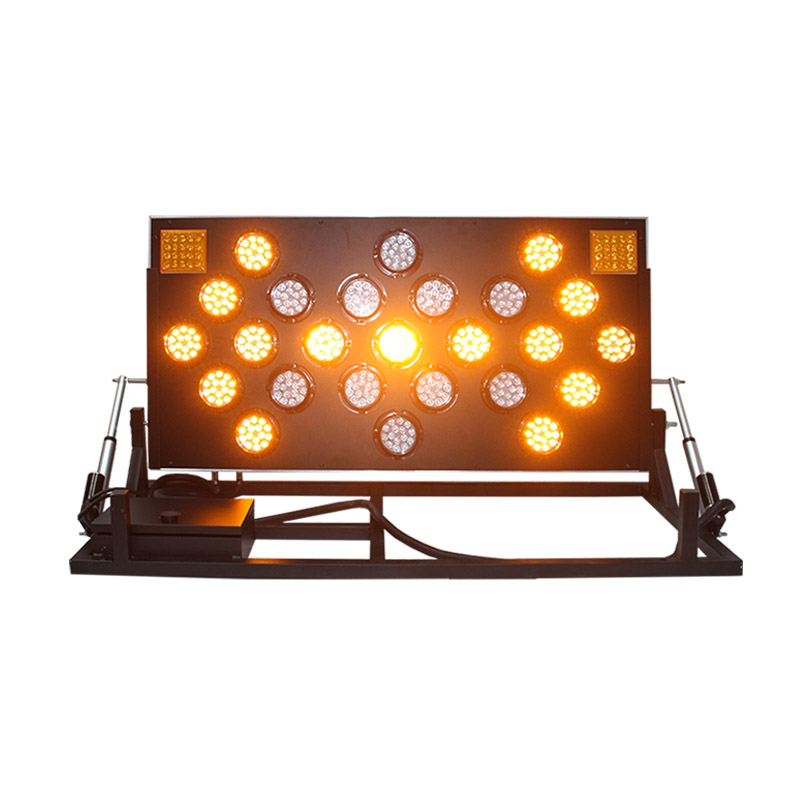 1200*600mm folding stand yellow flashing light LED arrow board for road constuction in Singapore