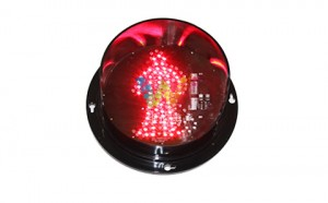 WDM factory customized 125mm red pedestrian light traffic signal module