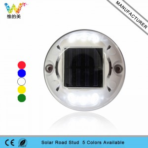 CE RoHS approved white color LED plastic solar road stud