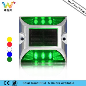High brightness aluminum road marker green LED road stud sale