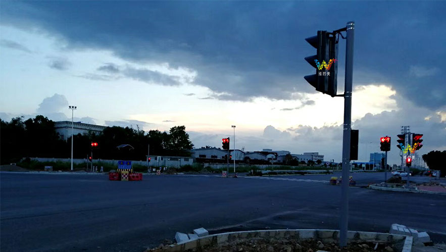 Zhongshan Heng 2 line traffic signal light debugging completed