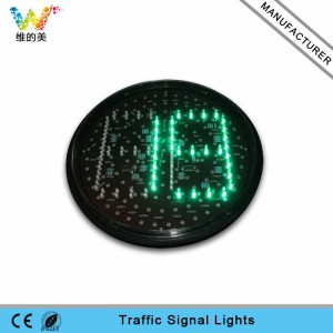 New arrival 300mm red green traffic light countdown timer lampwick