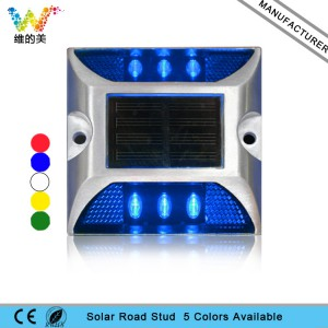 Road Safety aluming housing blue flashing Epistar LED road stud