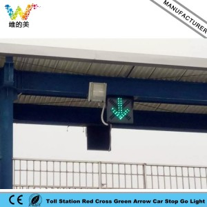 High Way Toll Station Vehicle Red Cross Green Arrow Go Stop Signal Light