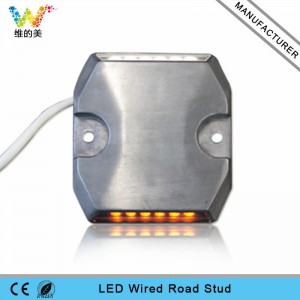 Waterproof aluminum DC12V 24V LED tunnel wired road stud