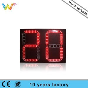 800*600mm Outdoor 2 digital Led Traffic Light Countdown Timer